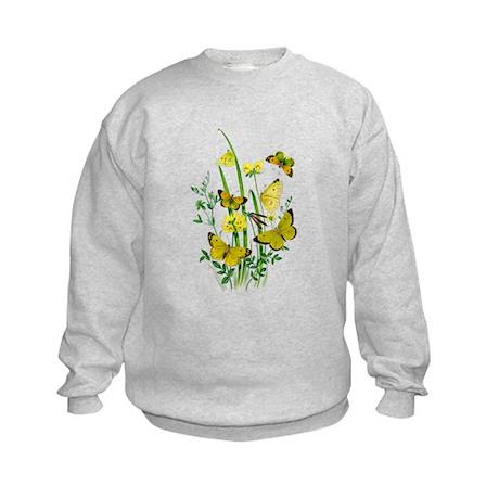 Butterflies of Summer Kids Sweatshirt