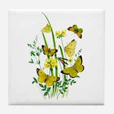 Butterflies of Summer Tile Coaster