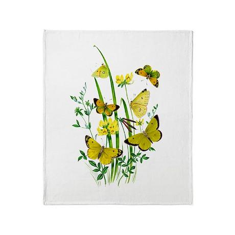 Butterflies of Summer Throw Blanket
