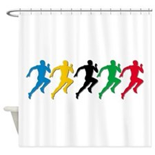 Track and Field Runners Shower Curtain