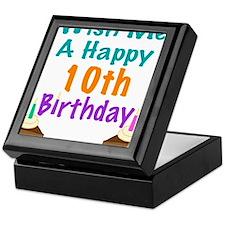 Wish me a happy 10th Birthday Keepsake Box