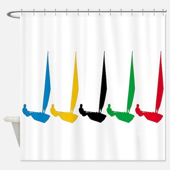 Sailing Regatta Shower Curtain