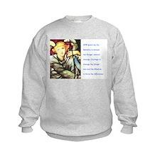 Serenity Prayer and angel Sweatshirt
