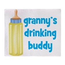 Grannys Drinking Buddy Throw Blanket