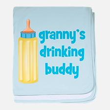 Grannys Drinking Buddy baby blanket