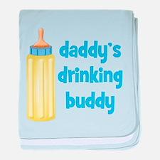 Daddys Drinking Buddy baby blanket