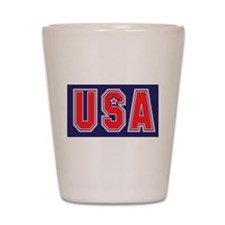 USA w STAR Shot Glass