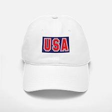USA w STAR Baseball Baseball Cap