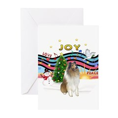 XMusic #1-Collie (sw-$) Greeting Cards (Pk of 20)