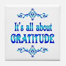 All About Gratitude Tile Coaster