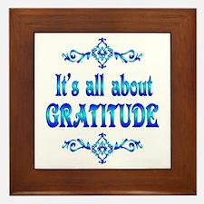All About Gratitude Framed Tile