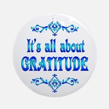 All About Gratitude Ornament (Round)