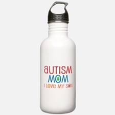 Autism Mom Loves Son Water Bottle