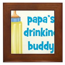 Papas Drinking Buddy.png Framed Tile