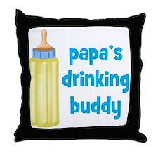 Papas Drinking Buddy.png Throw Pillow