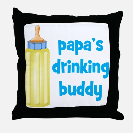 Papas Drinking Buddy.png Throw Pillow