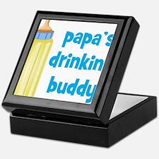 Papas Drinking Buddy.png Keepsake Box