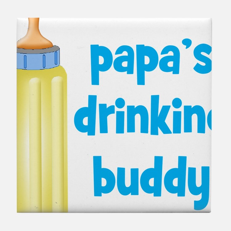 Papas Drinking Buddy.png Tile Coaster
