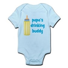 Papas Drinking Buddy.png Infant Bodysuit