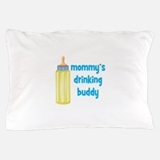 Mommys Drinking Buddy.png Pillow Case