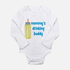 Mommys Drinking Buddy.png Long Sleeve Infant Bodys
