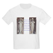 Serenity prayer and angels Kids T-Shirt