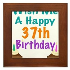 Wish me a happy 37th Birthday Framed Tile