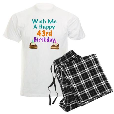 Wish me a happy 43rd Birthday Men's Light Pajamas