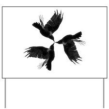 Crow Tessellation Yard Sign