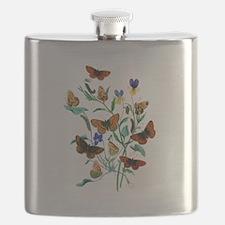Butterflies of Summer Flask
