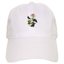 Butterflies and Honeysuckle Baseball Cap