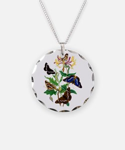 Butterflies and Honeysuckle Necklace