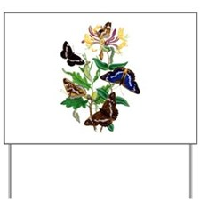 Butterflies and Honeysuckle Yard Sign
