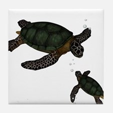Sea Turtles Tile Coaster