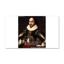 Shakespeare Words Fly Up Quote Car Magnet 20 x 12
