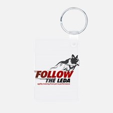 Follow The Leda Logo Keychains