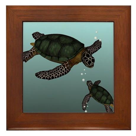 Sea Turtles Framed Tile