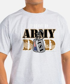 Proud-ARMY-Dad-Tag-blk T-Shirt
