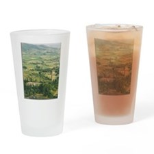 Tuscan Fields Drinking Glass