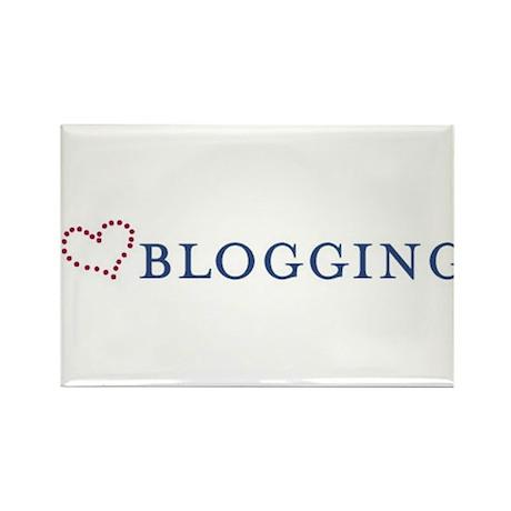 I Heart Blogging Rectangle Magnet (10 pack)