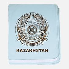 Vintage Kazakhstan Coat Of Arms baby blanket