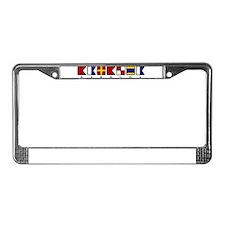 Barbuda License Plate Frame