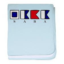 Nautical Saba baby blanket