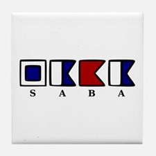 Nautical Saba Tile Coaster
