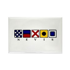 Nautical Nevis Rectangle Magnet