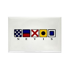 Nautical Nevis Rectangle Magnet (10 pack)