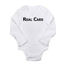 Real Cars text Long Sleeve Infant Bodysuit