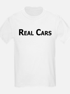 Real Cars text T-Shirt