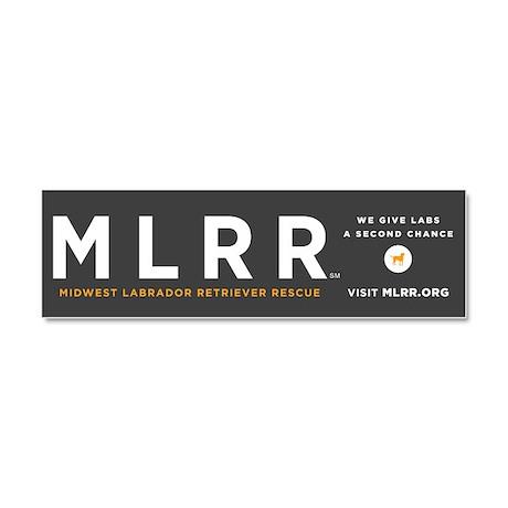 MLRR Gray Car Magnet 10 x 3