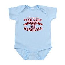Your Team Fantasy Baseball Red Infant Bodysuit